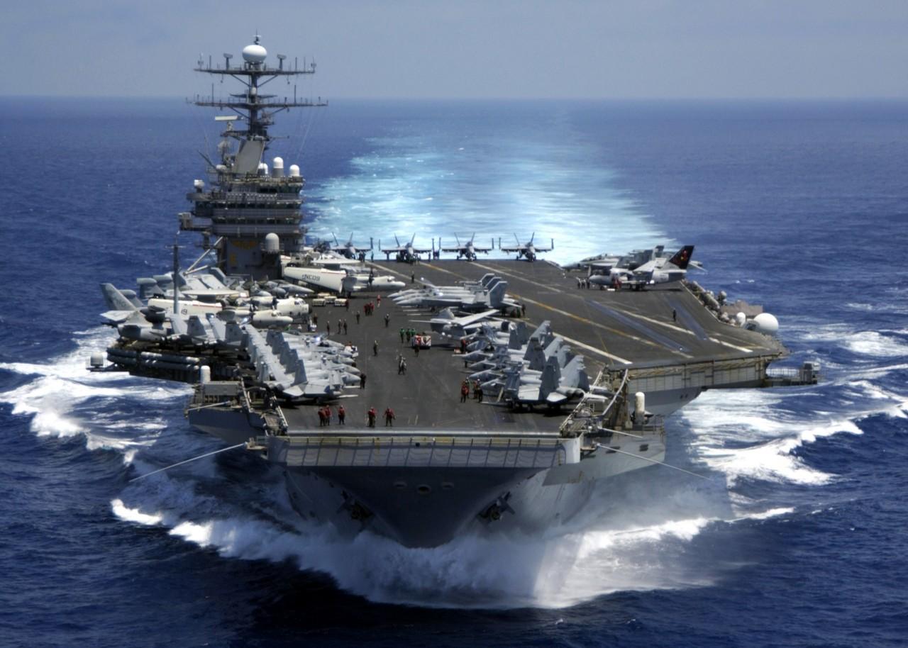 СМИ выяснили, где находится авианосец ВМС США Carl Vinson