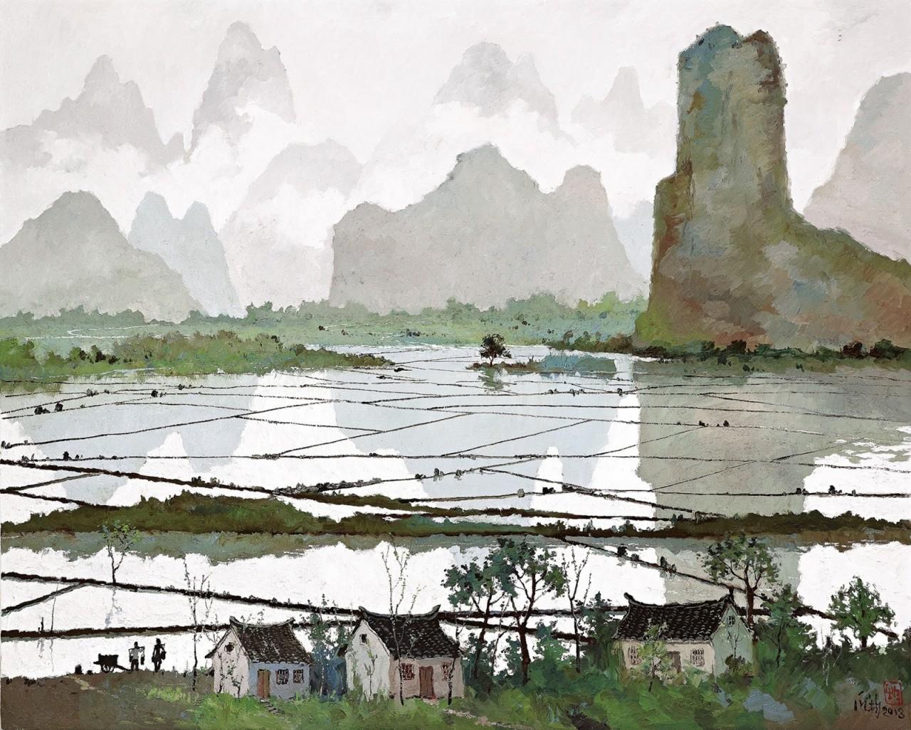 В тишайшем мире облаков… Художник Пан Цзюнь