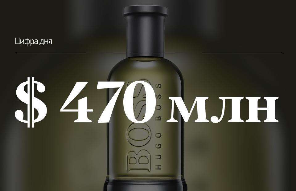 Сумма, которую ароматы Boss Bottled заработали за прошлый год