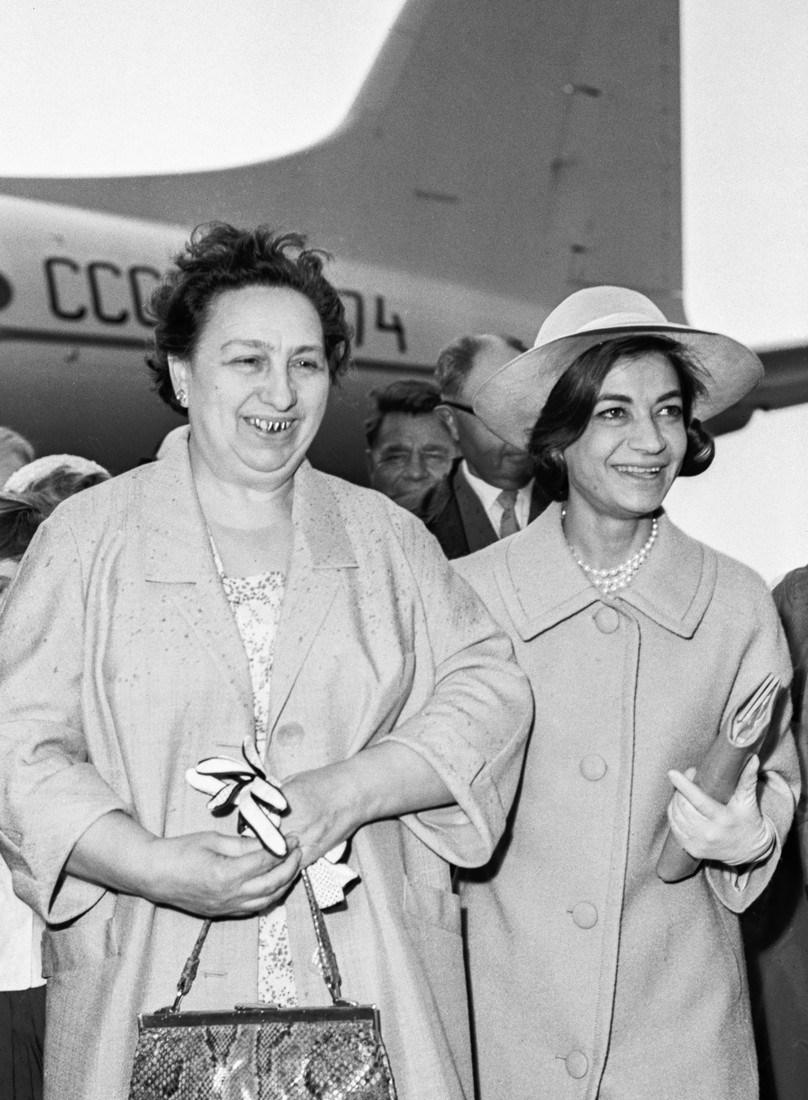 Iranian Princess Ashraf Pahlavi visits USSR