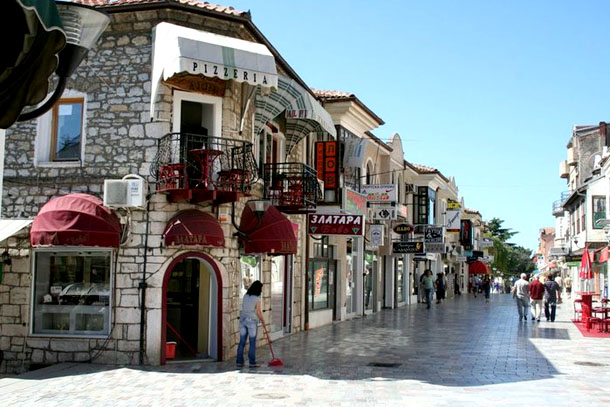 Пешеходная улица Охрида