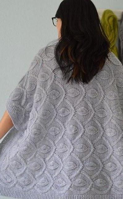 узоры для вязания спицами ажурных кофточек