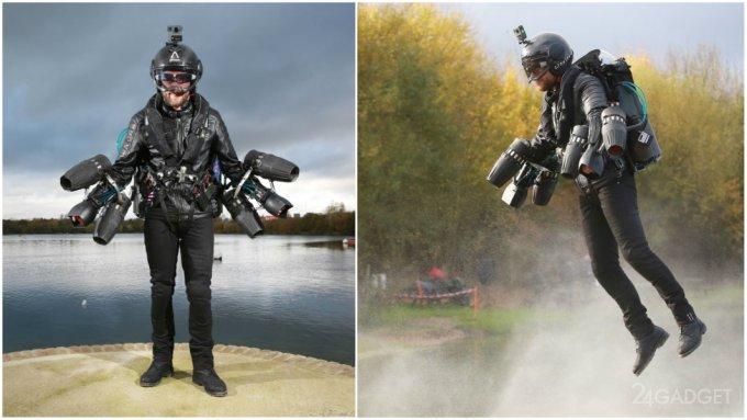 Британец в летающем костюме, как у Железного человека, установил рекорд скорости