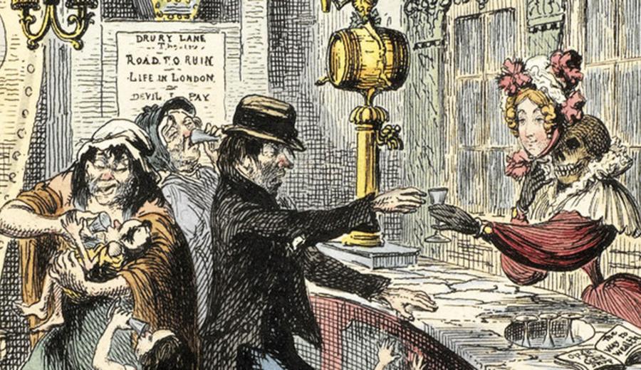 Эпидемия джина: как Лондон чуть не погубил дешевый алкоголь
