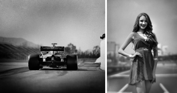 Фотограф снял «Формулу-1» на столетнюю камеру