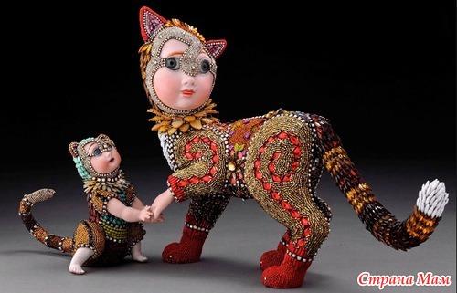 Невероятные сказочные скульптуры из бисера Бетси Янгквист . ФИГУРКИ ЖИВОТНЫХ И КУКЛЫ