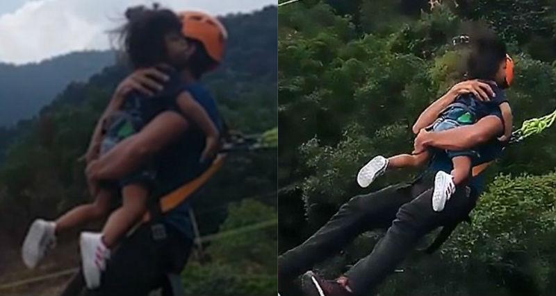 Худший отец в мире: малайзиец прыгнул в ущелье с двухлетней дочерью на руках