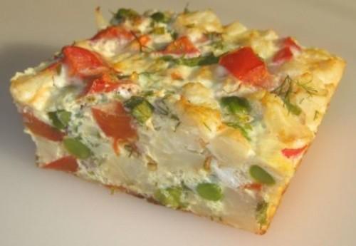 Омлет с цветной капустой рецепт с фото