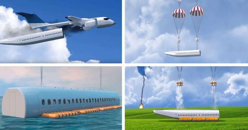 Сконструирован самолёт, пассажиры которого смогут спастись в случае авиакатастрофы
