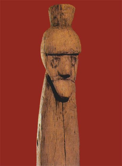 19. Деревянный идол из Старой Ладоги (фрагмент)