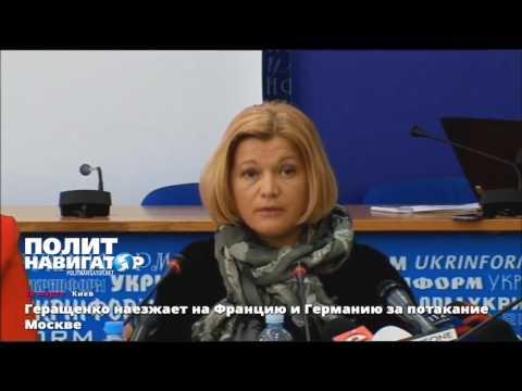 Геращенко наезжает на Францию и Германию за потакание интересам Москвы