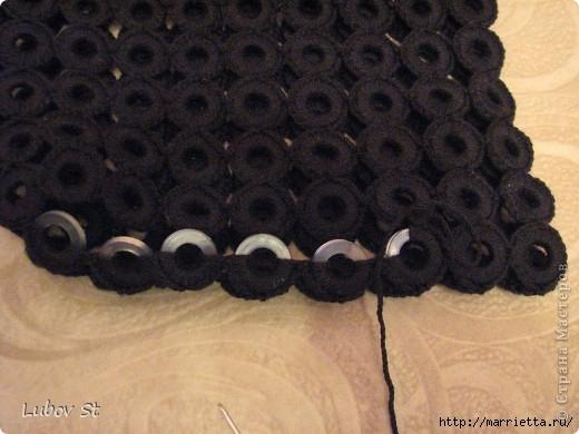Сумочка из колец с бисером. Вязание крючком без отрыва ниток (14) (520x390, 124Kb)