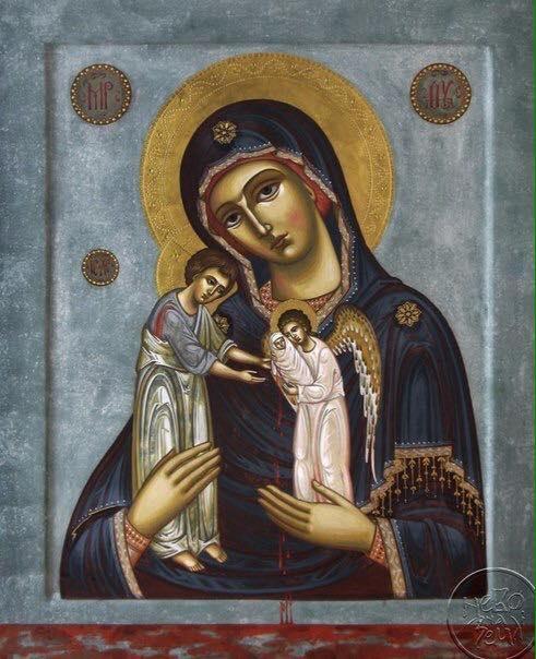 """Редкая икона Божией Матери, именуемой """" Скорбящая о младенцах, во чреве убиенных """""""