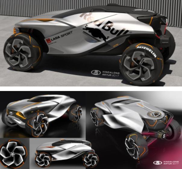 В Сети появились великолепные эскизы концептов Lada X-Stream