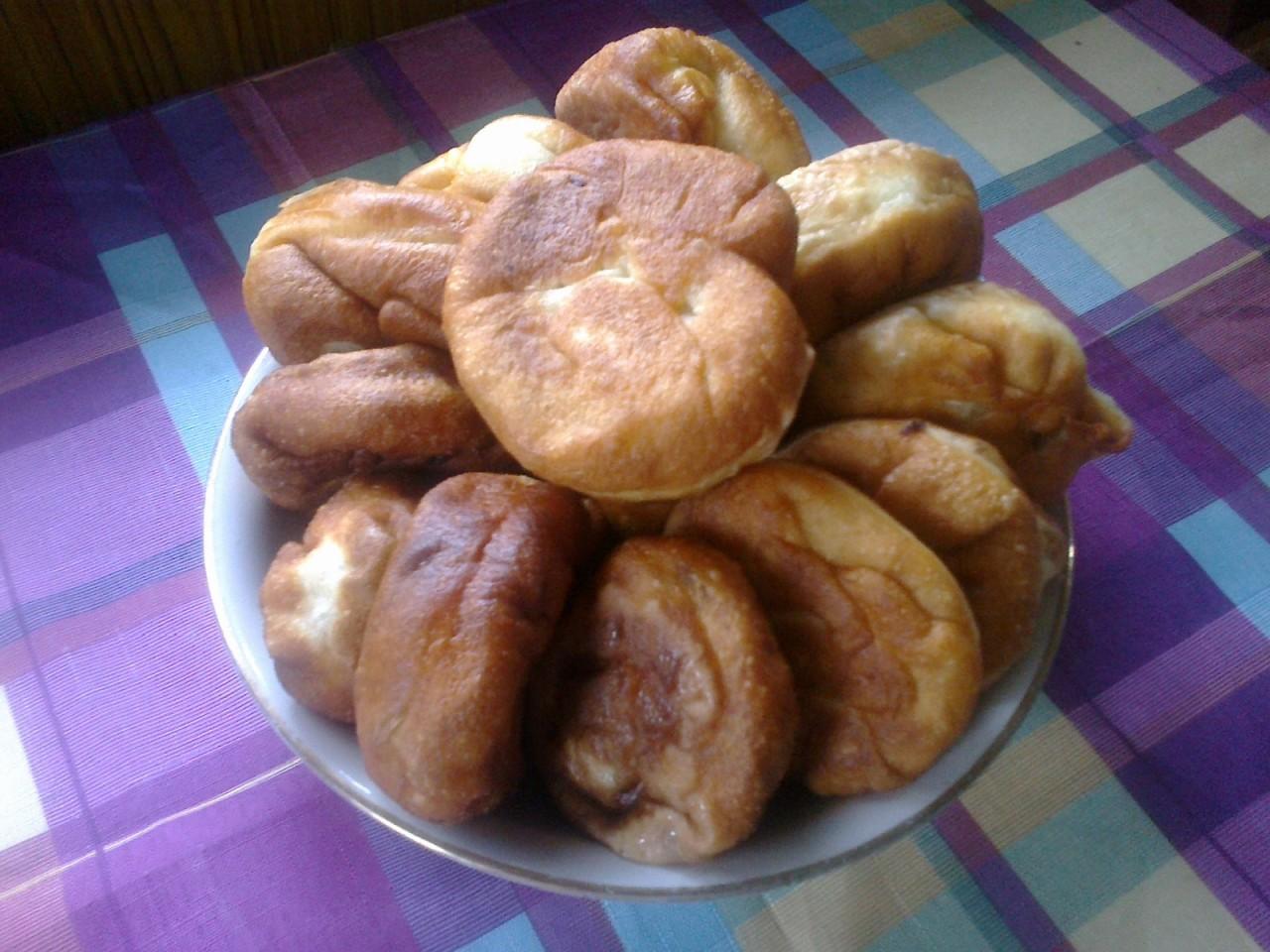 Дрожжевое тесто на воде для жареных пирожков с пошаговым фото
