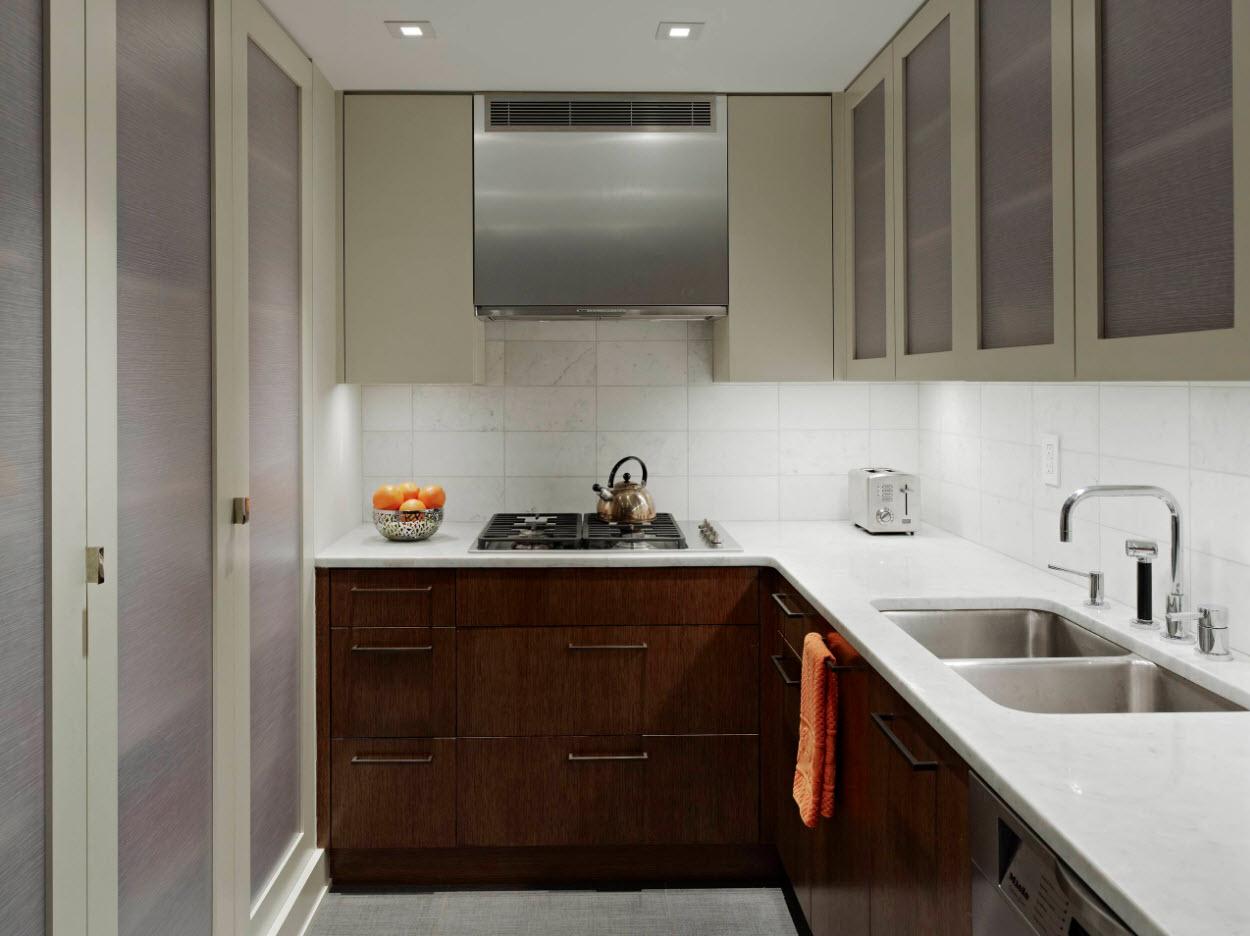 Угловая планировка для маленькой кухни