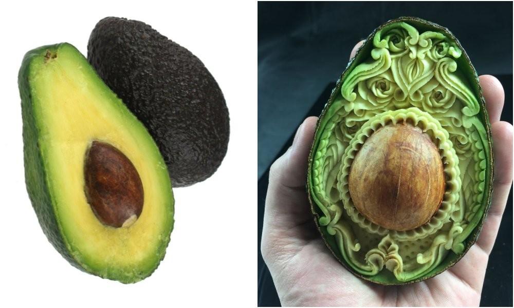 Авокадо за час превратилось в резной шедевр