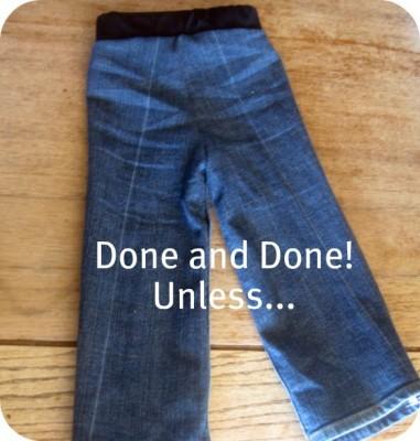 Как самостоятельно шить ребёнку джинсовые штаны.