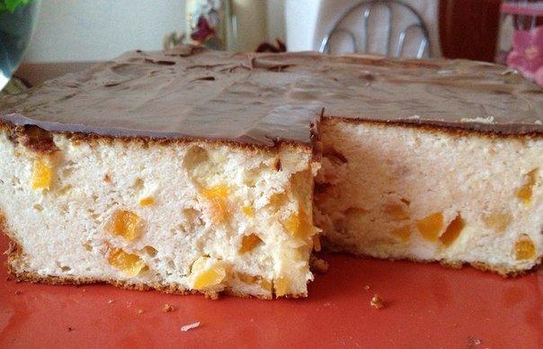 Творожная запеканка в шоколадной глазури — почти как торт