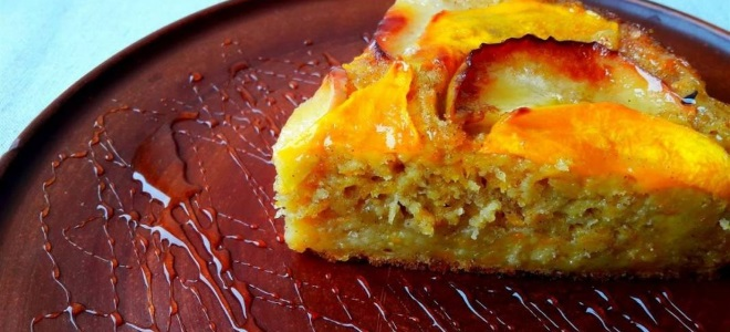 Пирог с тыквой и яблоками - простой рецепт