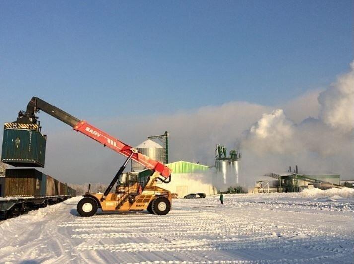 Новый завод Segezha Group в Красноярском крае отгрузил в Европу первую партию топливных гранул Хорошие, добрые, новости, россия, фоторепортаж