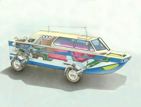 Самодельный автомобиль амфибия это вы можете