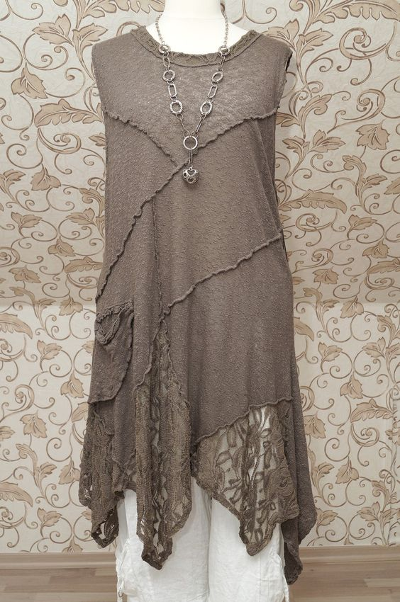 SARAH SANTOS QUIRKY MOCHA BROWN TUNIC ~ Recently purchased this: