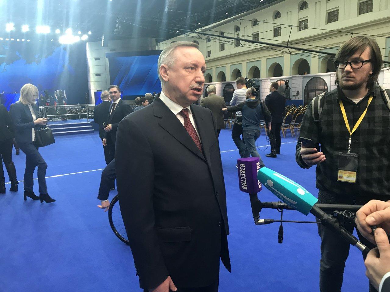 «Подумаем над увеличением надбавки на 10-15%»: Беглов прокомментировал послание Путина