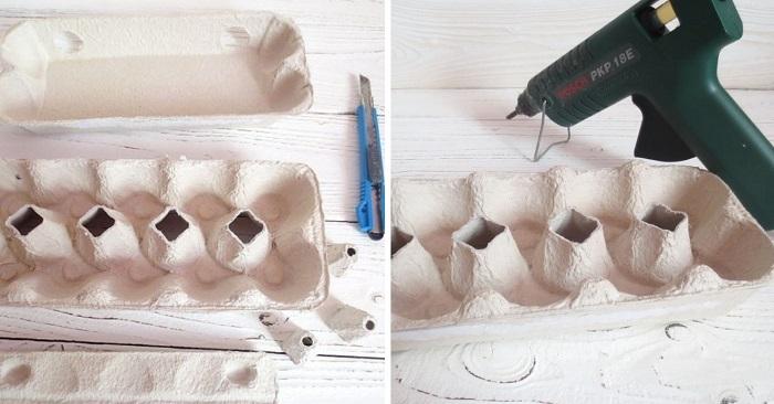 пасхальная корзинка из подручных материалов