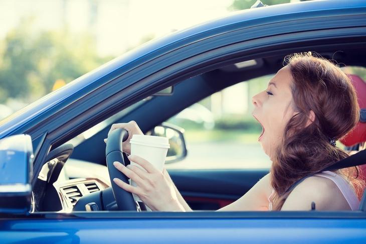 Признаки засыпания за рулем