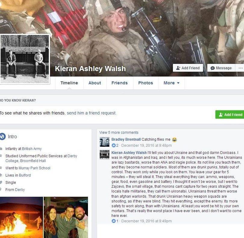 Откровения британского солдата: «Я думал хуже не будет, но я попал в Зайцево»...