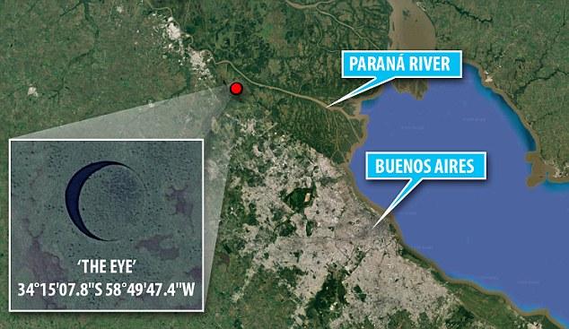 Идеально круглый вращающийся остров неясного происхождения найден в Аргентине