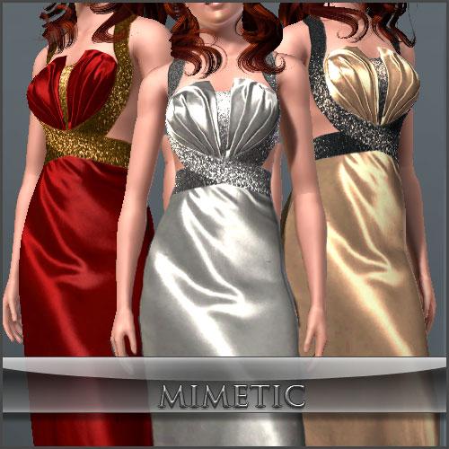 Вечернее платье от mimetic
