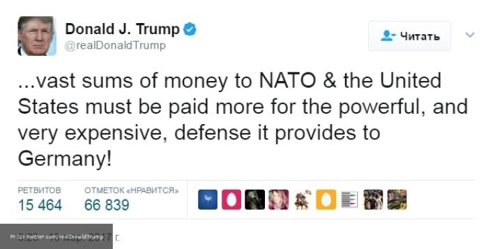 Дорогой НАТО: Асафов рассказал, чего хочет Дональд Трамп от Ангелы Меркель