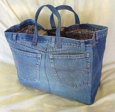 Как использовать старые джинсы! Ещё идейки!!!