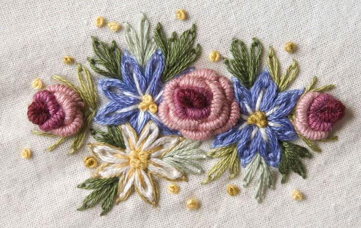 Виды швов в вышивке - подробно для начинающих. Конфетный дуб - делаем эффектный подарок!