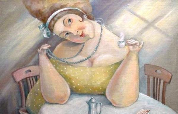 Ирония картины о жизни с Rat кофе, улыбок и снега