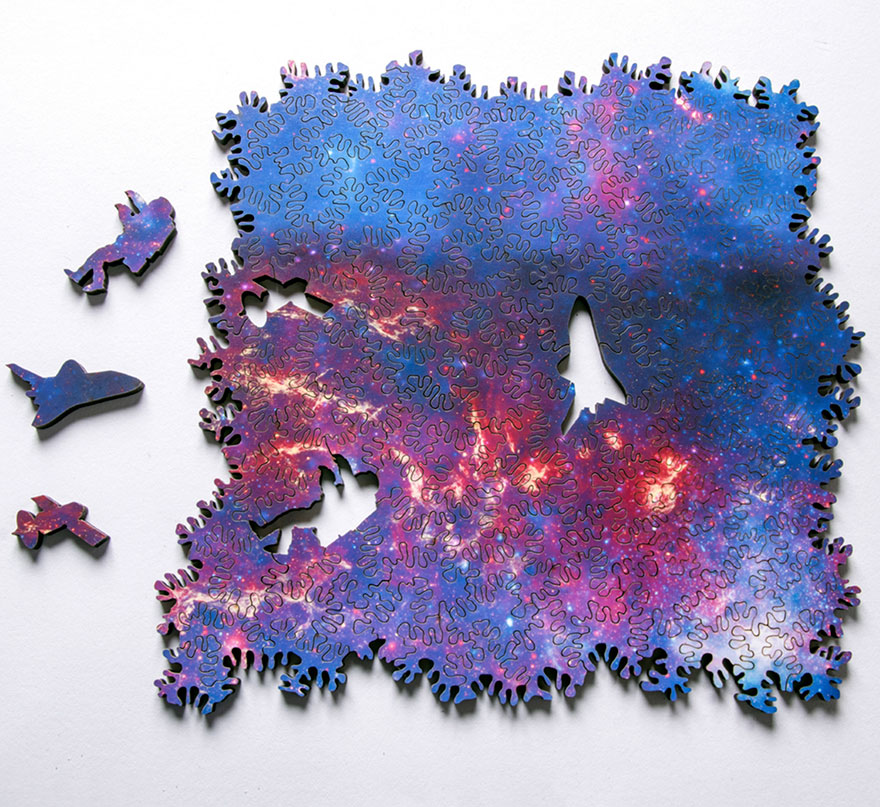 Infinity Galaxy Puzzle That Has No Beginning Or End And Can Be Assembled In Any Direction