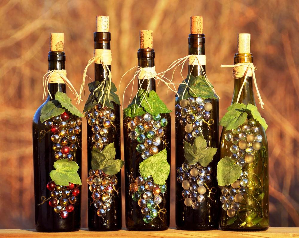 Уроки декора бутылки