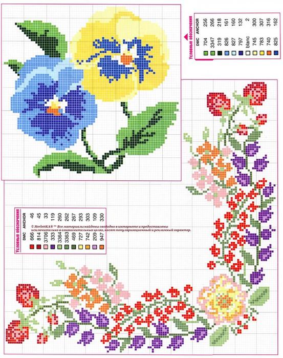 Рукоделие вышивка крестом цветов
