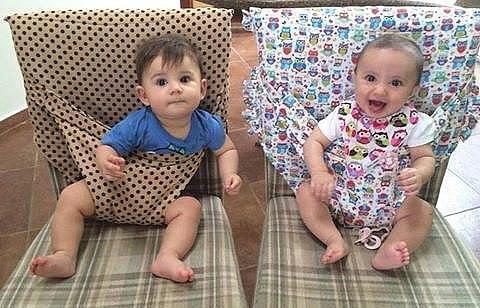 Интересная идея для мам и бабушек! И малыш не упадет!
