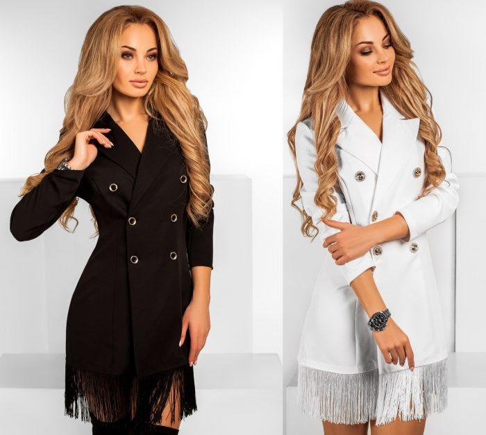 С чем сочетать платье-пиджак — модные варианты
