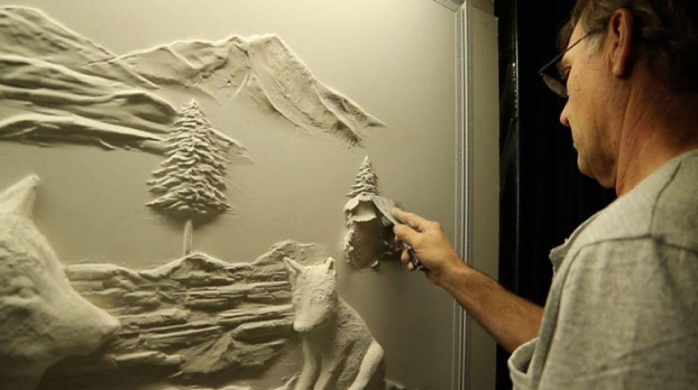Скульптура на стене своими руками
