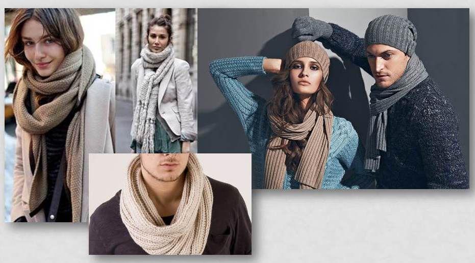 Аксессуары в стиле unisex: подборка модных шарфов и снудов