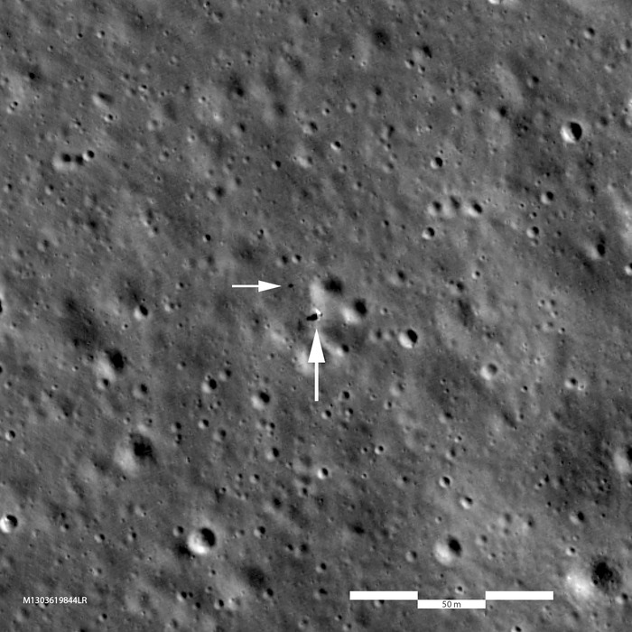 Зонд NASA LRO получил качественные снимки места посадки миссии «Чанъэ-4» на Луне