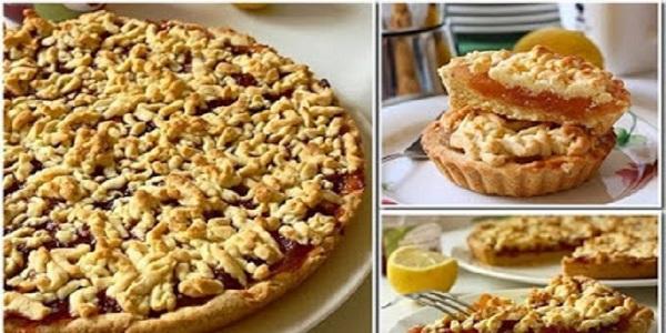 Самый вкусный тертый пирог. Пирог получается всегда очень нежный и рассыпчатый