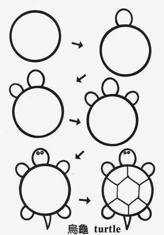 Поэтапно рисунки из кругов