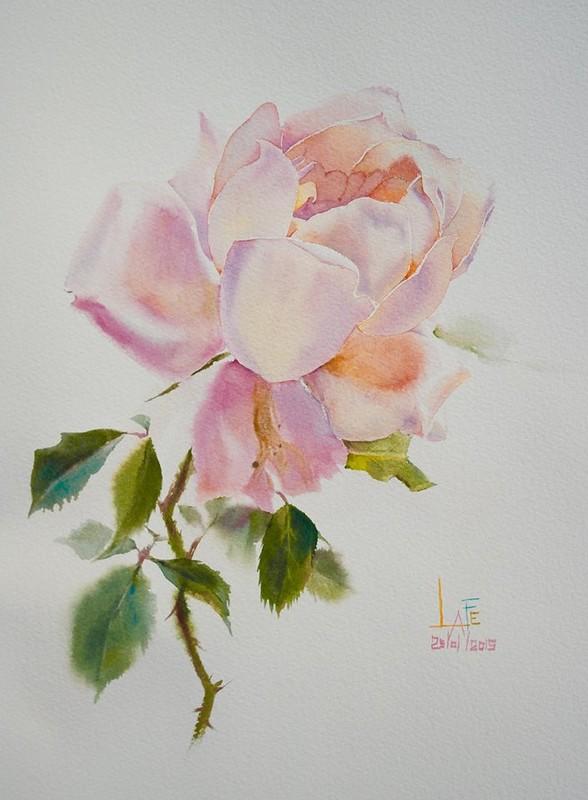 Воспевание розы. Художник Ла Фе