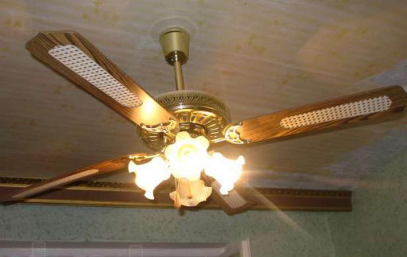 установка потолочных вентиляторов фото