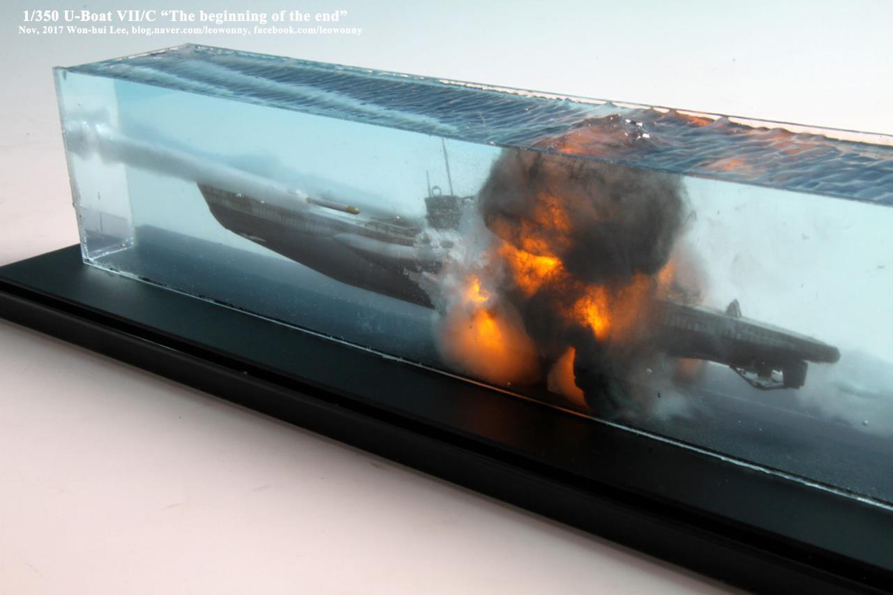 Взрыв подводной лодки на столе